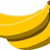 バナナの乾燥例